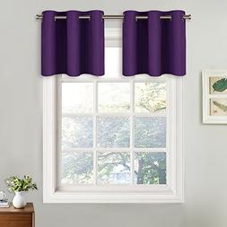 NICETOWN Thermal Insulated Blackout Valances for kitchen - E