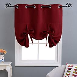 NICETOWN Burgundy Red Blind for Christmas - Tie Up Shade Bla