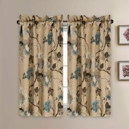 Thermal Insulated Elegant Curtains Rod Pocket Kitchen Kitche