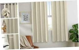 Thermal Insulated Faux Linen Room Darkening Curtains for Bed
