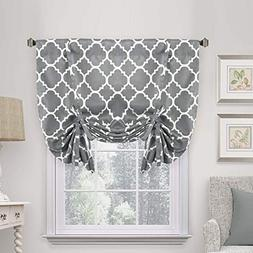 Thermal Insulated Grey Blackout Curtain - Tie Up Shade for S