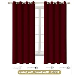 Thermal Insulated Grommet Blackout 2 Panel Curtain For Kitch