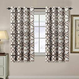 Thermal Insulated Grommet Blackout Curtains for Bedroom 63 L