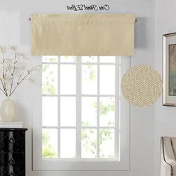H.VERSAILTEX Thermal Insulated Rich Linen Curtain Valance, R