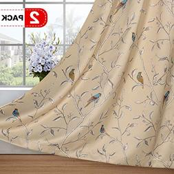 Thermal Insulated Room Darkening Curtains for Living Room Bl