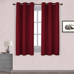 1 Pair Thermal Insulated Solid Grommet Blackout Curtains/Dra