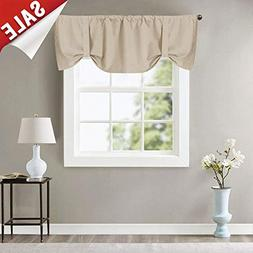 Thick Sheer White Swags Valances for Windows Home Décor Sol