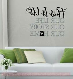 This Is Our Home Sticker Quotes Vinyl Lettering Decals for H