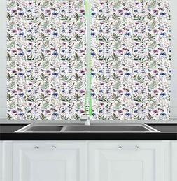 thistle kitchen curtains 2 panel set window