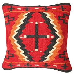 Throw Pillow Cover, 18 X 18, Hand Woven Western Wool decorat
