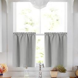 Tier Curtains Blackout Window Treatment Thermal Insulated Ti