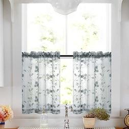 Kitchen Curtains 24 Inch Length Sets Grey Kitchencurtains