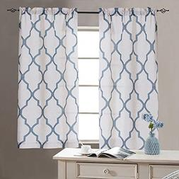jinchan Tier Curtains Moroccan Print for Kitchen Moroccan Pr