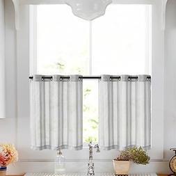 Tier Curtains for Kitchen 24 inch Length Cafe Curtains Strip