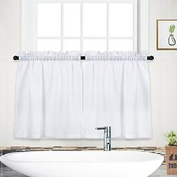 NANAN Tier Curtains,Waffle Weave Textured Tailored Short Cur