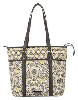 Large Tote Bag Small Laptop Bag Diaper Bag made of Quilted C