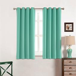 Toxic Free 52 W X 63 L Inch Grommet Top Blackout Curtains fo
