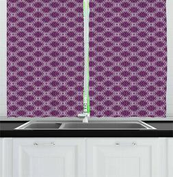 Traditional Vibes Kitchen Curtains 2 Panel Set Window Drapes