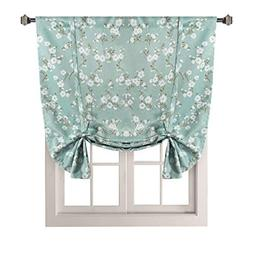 H.VERSAILTEX Traditional Window Drapes Aqua Floral Country S