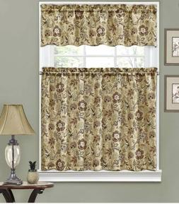 Traditions By Waverly Tier and Valance Set Curtains Navarra