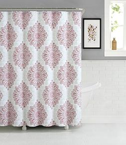 Tranquility Cotton Rich Fabric Shower Curtain with Medallion