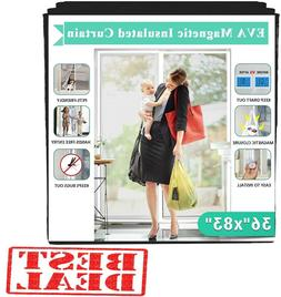 Transparent Magnetic Thermal Insulated Door Curtain Keep Dra