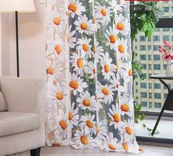 Tulle Curtains For Living Room Bedroom Kitchen Floral Window