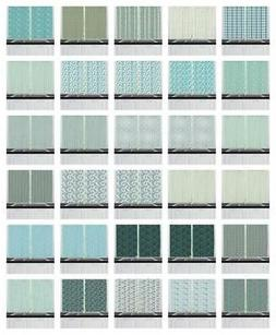 "Turquoise Kitchen Curtains 2 Panel Set Window Drapes 55"" X 3"