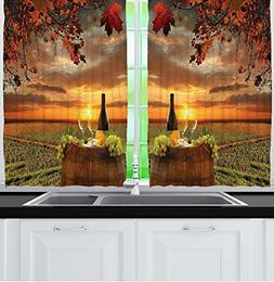 Tuscany Land of Wine Decor Collection, Grape Field Wine Bott