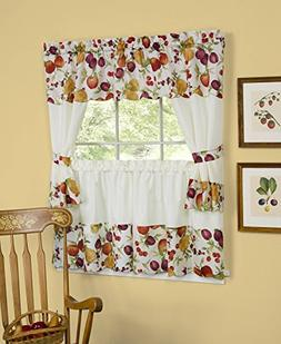 naturally home Tuttie Fruitie Kitchen Curtain Cottage Set