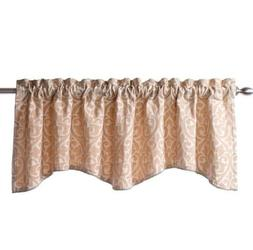 Twill and Birch Bryce Chenille Scalloped Valance With Cordin