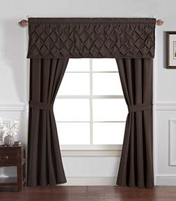 GoodGram Unique 5 Piece Window Curtain Set By Assorted Color