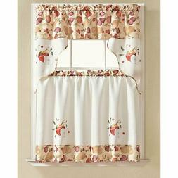 RT Designers Collection Tier and Valance Urban Embroidered T