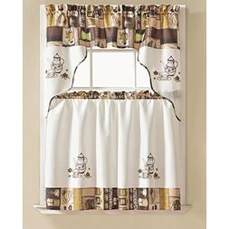 RT Designers Collection Urban Embroidered Tier and Valance K