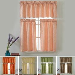 US Floral Sheer Short Curtain Cafe Kitchen Tulle Scarf Divid