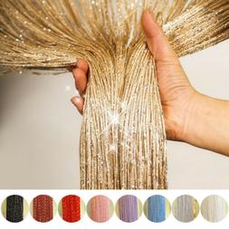 US Glitter String Door Curtain Beads Room Dividers  Beaded F