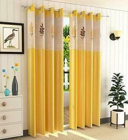 V Decor Polyester Window Curtain with Floral Net Single 1pc