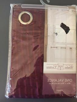 Window Curtains valance Sidney 60X14inches New! burgundy
