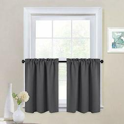 Valances NICETOWN Kitchen Blackout Window Tiers - Thermal In