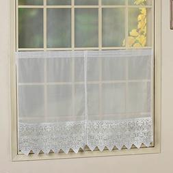 United Curtain Valerie Voile and Macrame Kitchen Tier