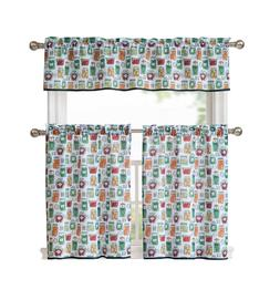 vegetables complete kitchen curtain set assorted colors