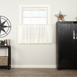 Tobacco Cloth Cafe Kitchen Curtains Set VHC Farmhouse Tier S
