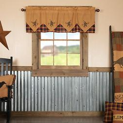 VHC Primitive Kitchen Curtains Cafe Heritage Farms Star Vala