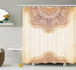 Victorian Decor Shower Curtain Set By Ambesonne, Artistic Or