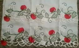 Vintage ABSOLUTELY STUNNING Cafe Style Window Embroidered Cu