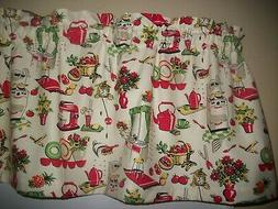 Vintage Kitchen Coffe Pot Cuckoo Clock Red fabric window top