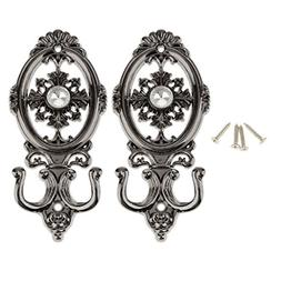 Enking 2 pcs Vintage Oval Curtain Hanger Tie Back Wall Mount