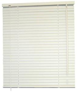 DESIGNER'S TOUCH 1-Inch Vinyl Mini Blinds, White, 39X72 In.