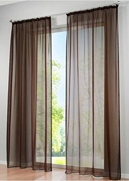 LivebyCare 1pcs Vivid Color Sheer Window Curtain Panel Hook