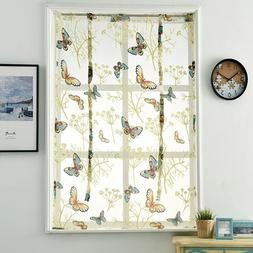 Voile Print <font><b>Kitchen</b></font> <font><b>Curtains</b